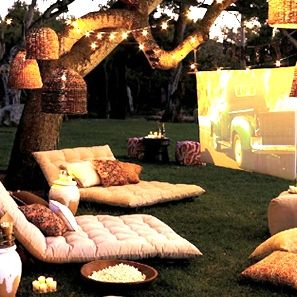 Dream summer backyard set up...I don't think I would even need a house if I had a yard like this! :)
