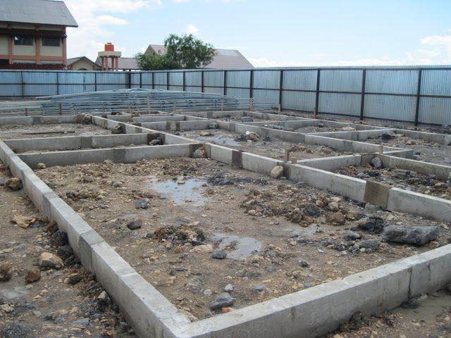 Sloof Beton Precast Selesai Terpasang Bangunan Rumah Kreatif