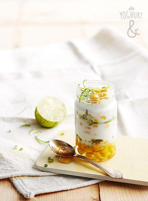 Sporenstrek | Yoghurt & mais & Limezest & Honning - Se flere spennende yoghurtvarianter på yoghurt.no - Et inspirasjonsmagasin for yoghurt.