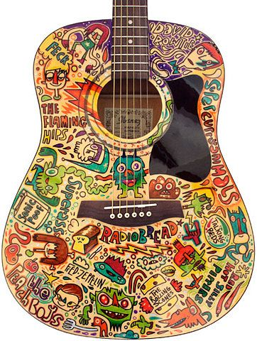 Jon Burgerman | beautiful guitar design