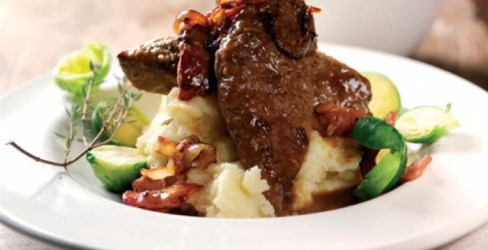 Lamb's Liver Recipe Serve with parsnip mash and seasonal vegetables