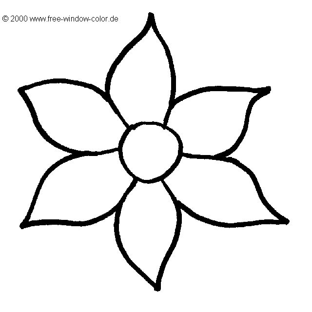 malvorlagen blume picture | coloring pages, easy flower