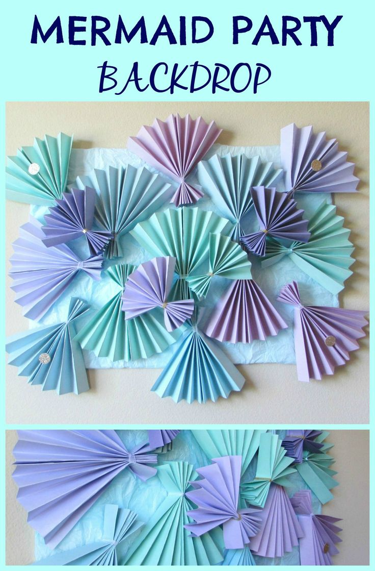 Mermaid Party Backdrop for dessert tables or pictures -Val Event Gal