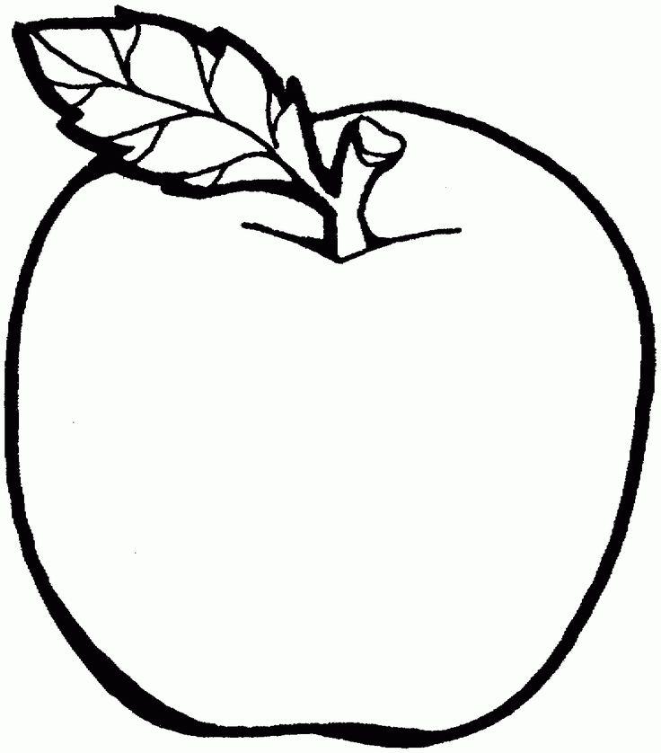 раскраска для малышей яблоко распечатать бесплатно - Поиск ...