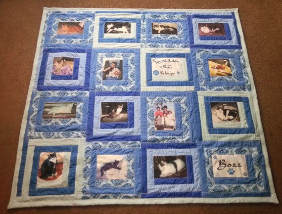 Hey, I found this really awesome Etsy listing at https://www.etsy.com/listing/105297338/memory-16-photo-quilt-throw