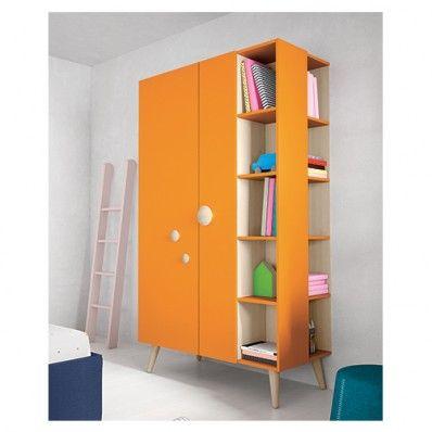 Children's Wardrobe Nidi in Orange