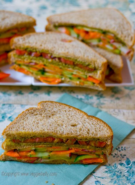 Double Layer Summer Vegetable Sandwich with Hummus and Pesto: Chocolates Food, Hummus Veggies, Summer Veggies, Teas Sandwiches, Veggies Sandwiches, Recipestotry Sandwiches, Vegetables Sandwiches, Pesto Recipes, Tuna Recipes