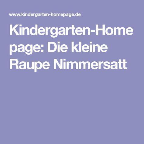 kindergarten homepage die kleine raupe nimmersatt basteln raupe nimmersatt raupe und. Black Bedroom Furniture Sets. Home Design Ideas