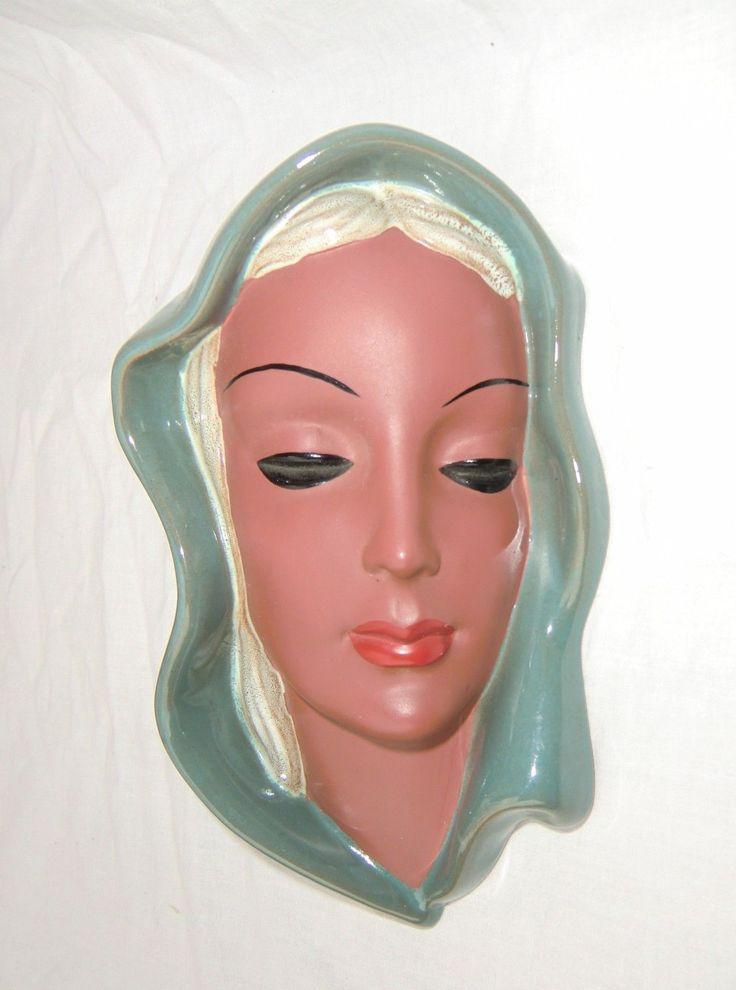 ORIGINAL Goldscheider 50er Keramik Wandmaske Wall Mask Maske 4831 sehr selten - EUR 8,50   PicClick DE