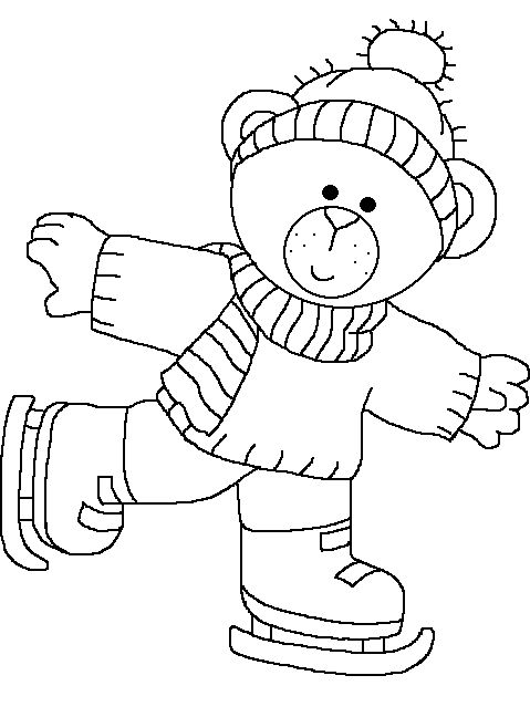 barbie ice skating coloring pages - photo#15