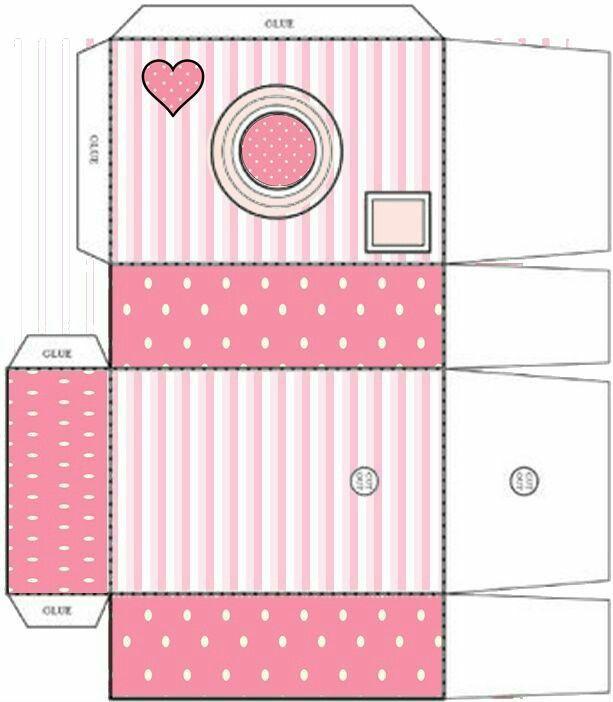 Cajita c mara de fotos moldes de cajas y kits para for Regalo camera