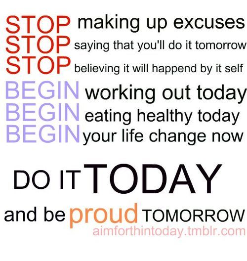 No more excuses! We've all got them, so let's promise each other - NO MORE! #motivation #weightloss