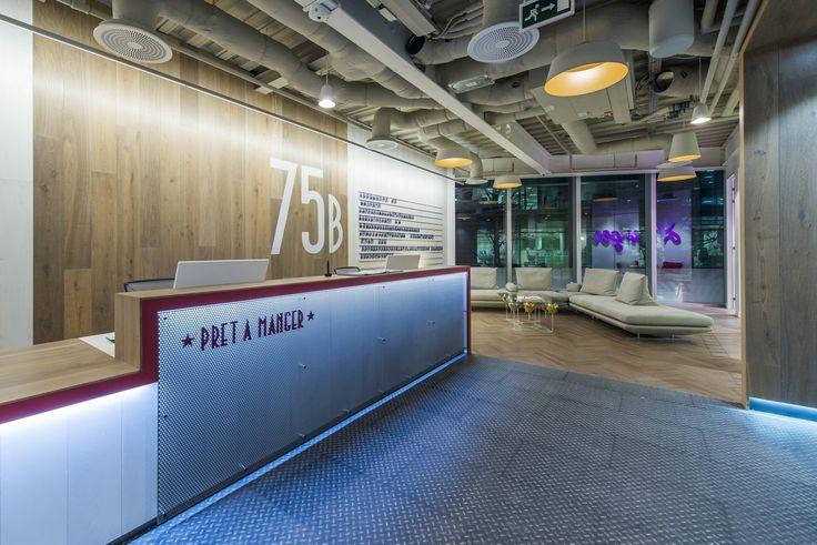 Interior Desain Kantor Pret A Manger Offices di London