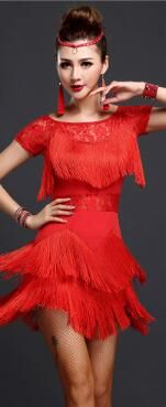 Cheap dance dress, Buy Quality cha cha directly from China cha cha dancing Suppliers: 2017 new Fringe tassel latin cha cha  dance practice dance dress black,purple,blue,pink,red