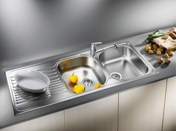 Blanco 401654 Tipo 8 S Stainless Steel Double Kitchen Sink with Drainboard - Évier de Cuisine Double avec Égouttoir Acier Inox  $419.99 Call 514-291-6177 or gohennessey@gmail.com