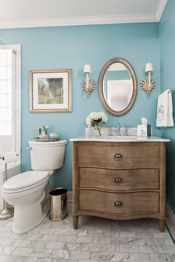 House of Turquoise: Dona Rosene Interiors BM paint color Chesapeake Blue 596