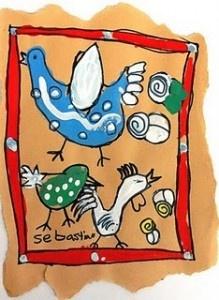 Arnate Bark Paintings on Paper Bag (Mexican Folk Art)