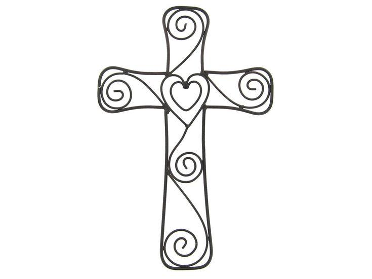 Heart & Swirls Metal Cross | Shops, Wall crosses and Drawings