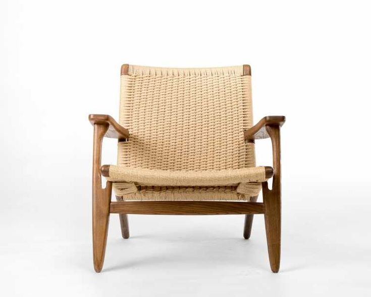 The CH25 Easy Chair was one of the first chairs inspired by modern Danish design. It has sustained popularity for its ease of comfort and adaptability as a simple lounge chair, and perhaps also for it's revolutionary contribution to structural design. The CH25 is regarded for its use of woven paper cord, a substitution material during the Second World War. It takes a skilled craftsman 10 hours to hand weave this pattern for the unique seat and back of this incredible lounge chair, certainly…