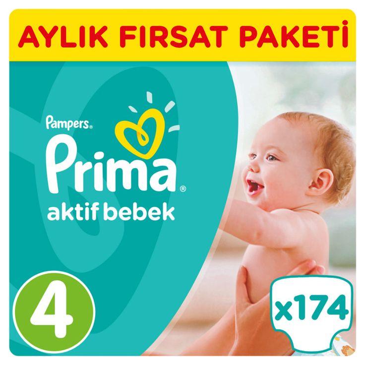 Prima Aktif Bebek Bezi 4 Beden Fırsat Paketi 174 Adet