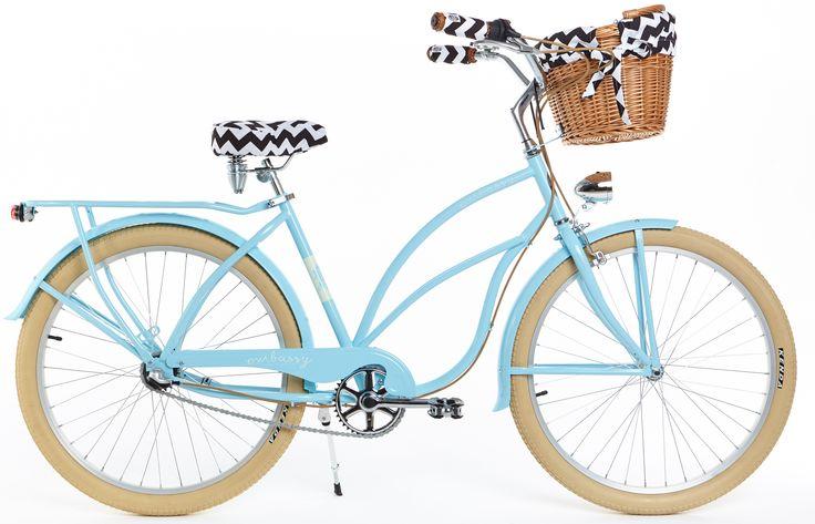 Algo para los amantes de color azul la Bicicleta BREZZA Bici vintage para mujer en color azul. Sillín y los puños diseñados de piel en color marrón. Bicicleta con portaequipaje. Cable de freno en color marrón. Bici con ruedas 26″ en color ecri.