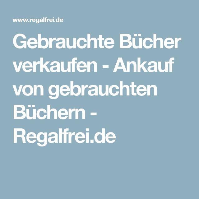 Gebrauchte Bücher verkaufen - Ankauf von gebrauchten Büchern - Regalfrei.de