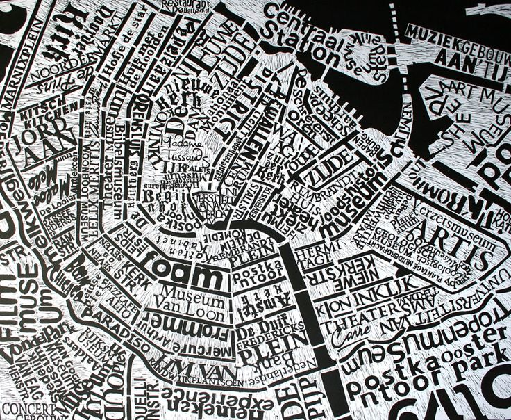 lovely print - useful map!