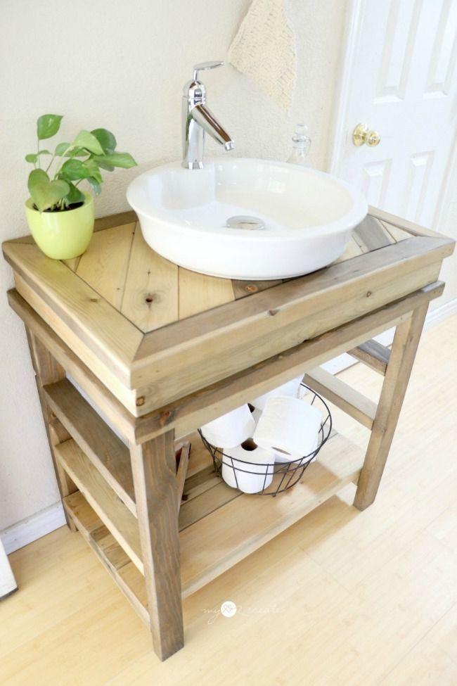 14 Diy Bathroom Vanity Plans Small Bathroom Vanities Rustic