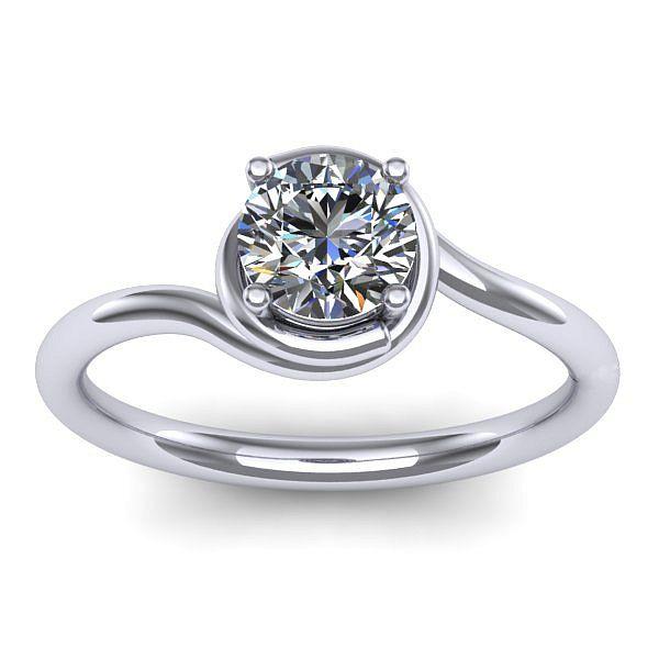 Inelul este realizat din aur alb 14k, greutate: ~2.20gr. Produsul are in componenta sa: 1 x diamant, dimensiune: ~3.70mm, greutate: 0.20ct , culoare: G, claritate: VS2, forma: round