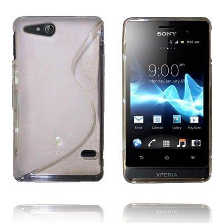 Transparent S-Line (Hvit) Sony Xperia Go Deksel
