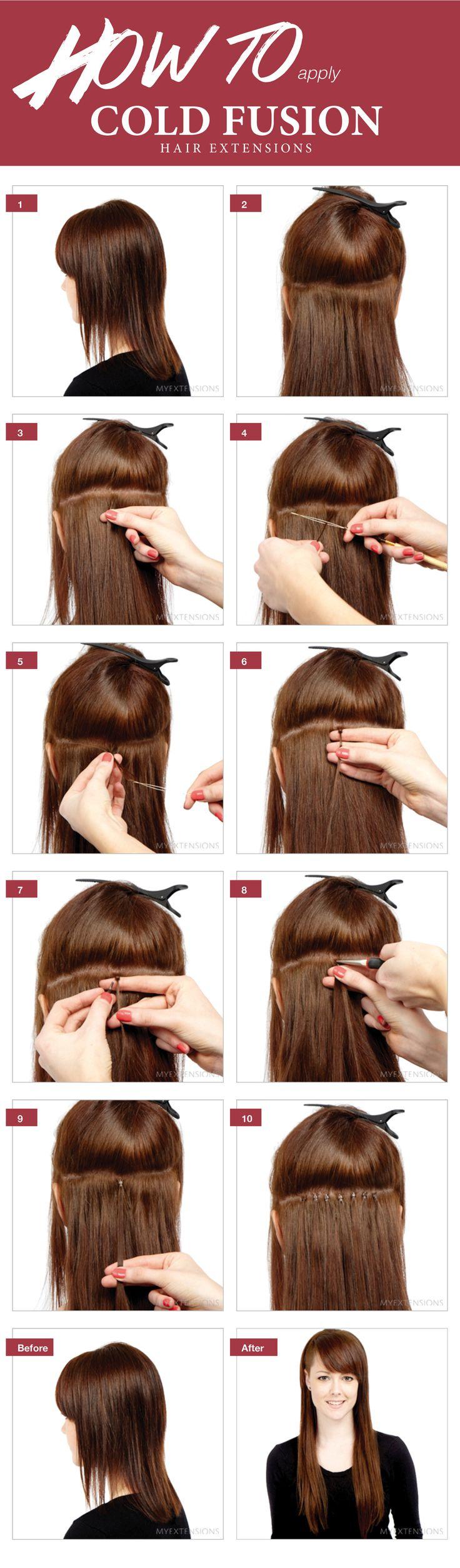 Step by step guide - Sådan påsætter du cold fusion hair extensions - se mere på http://www.myextensions.dk/da/paasaetning-af-cold-fusion