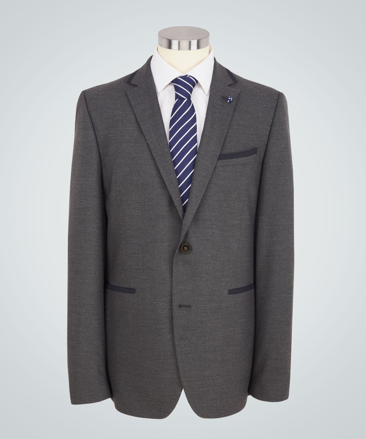Peter Werth - Draper Grey Two-button Single Breasted Jacket - Tailoring - Clothing