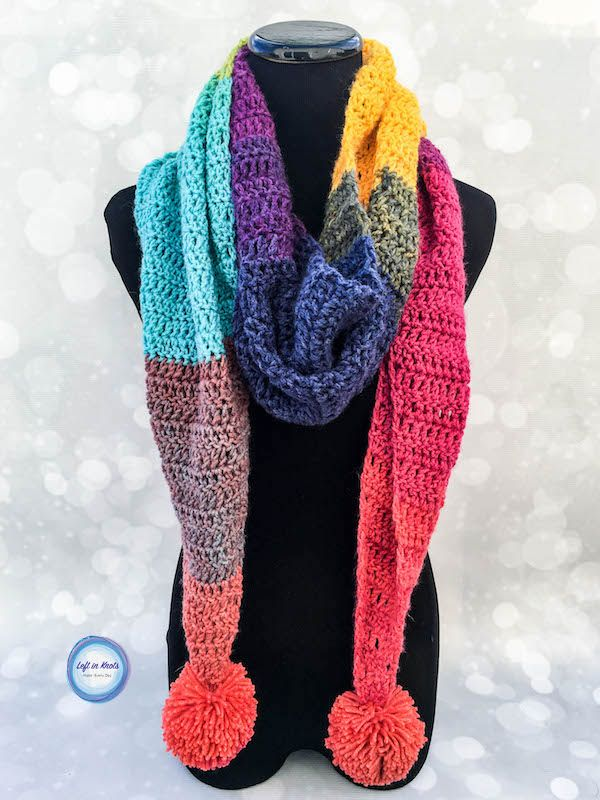 9ac3cb32023e6 The Chroma Scarf has a similar shape to my popular Strawberry Patch  Convertible Scarf and I LOVE how simple and quickly this one is to work up.