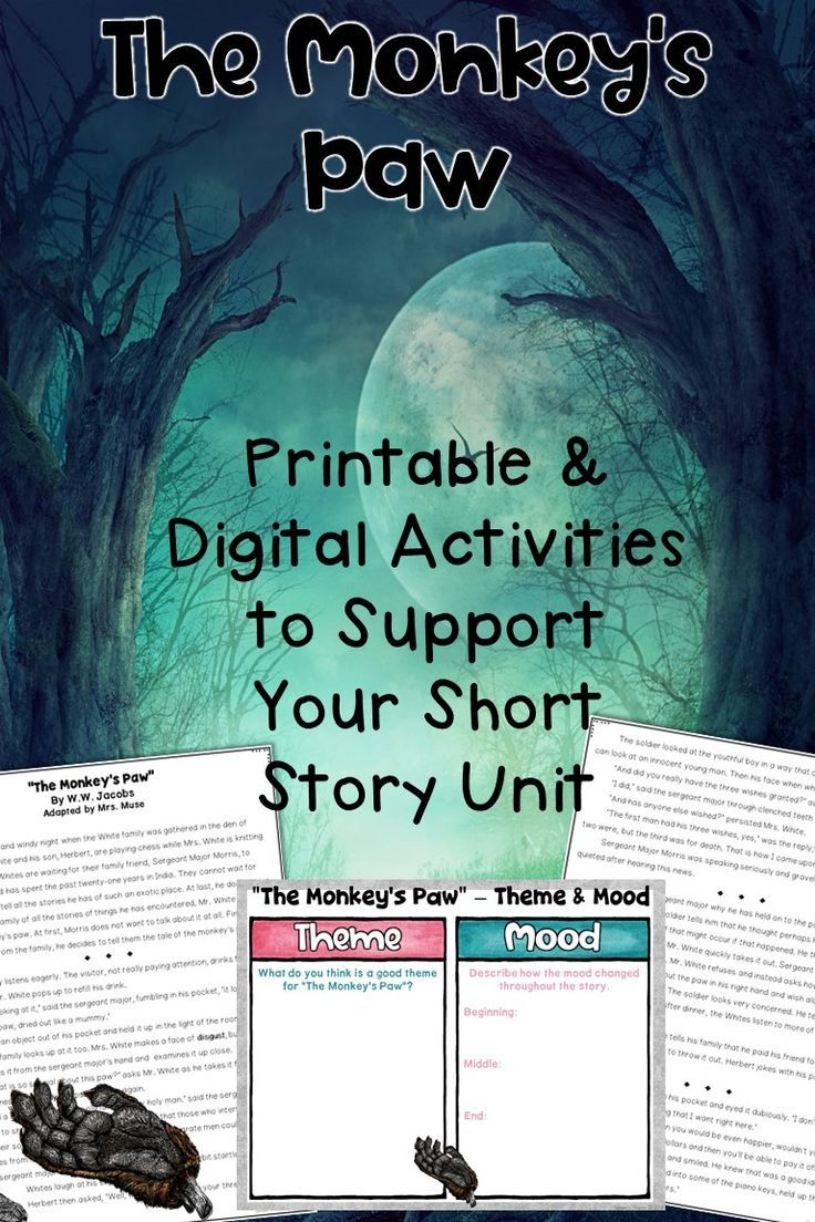 image relating to Printable Short Story for Middle School named The Monkeys Paw Brief Tale Printable and Electronic Machine for