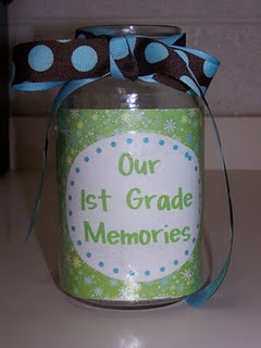 Our Class Memories - end each day by putting a memory in the jar