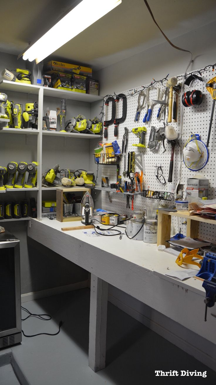 BEFORE & AFTER: Garage Workbench Makeover Using Beyond Paint
