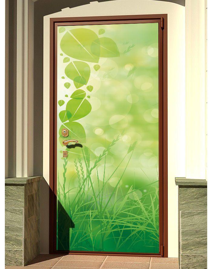 Door sticker – Green grass