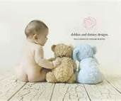 6 month baby picture ideas - Instead of teddy bears have Lily