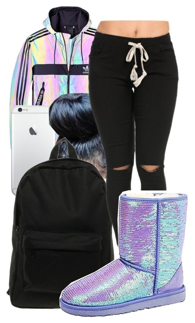 """"" by honey-cocaine1972 ❤ liked on Polyvore featuring adidas, Herschel and UGG Australia"