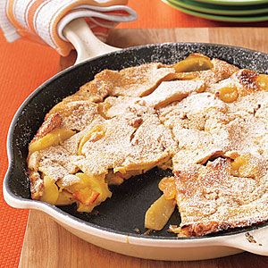 Dutch Baby apple pancake...not healthy as written but looks easy to make more healthy