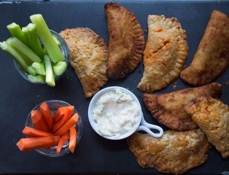 Buffalo Chicken Fried Pies with Celery and Carrot Sticks and Ranch Dressing | Nothing in the House