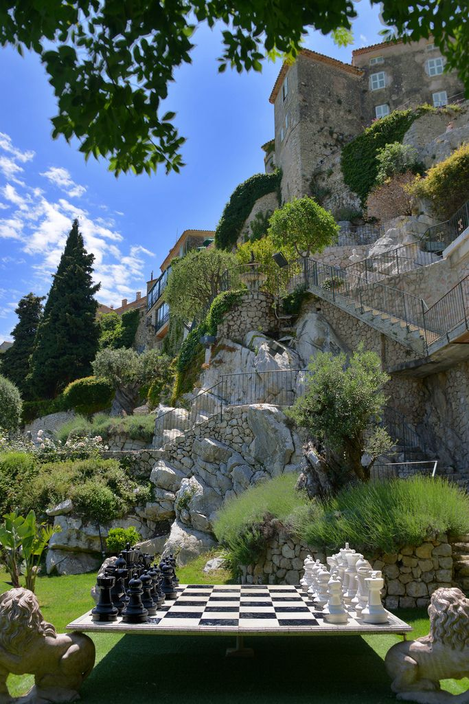 In the gardens of the Chateau de la Chevre d'Or, in Eze, France ♠ by Erwin Berrier