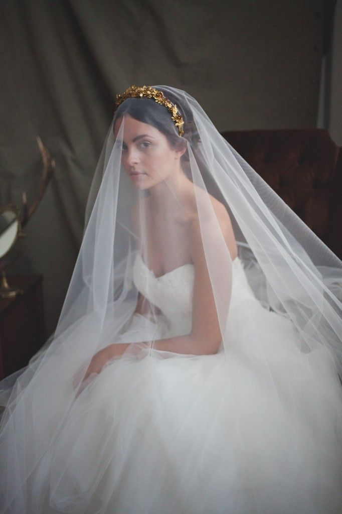 Metallic & Glittering Gold Headpieces + Veils | What Katy Did Next: The Reign Collection see more at http://www.wantthatwedding.co.uk/2014/06/12/metallic-glittering-gold-headpieces-veils-katy-next-reign-collection/