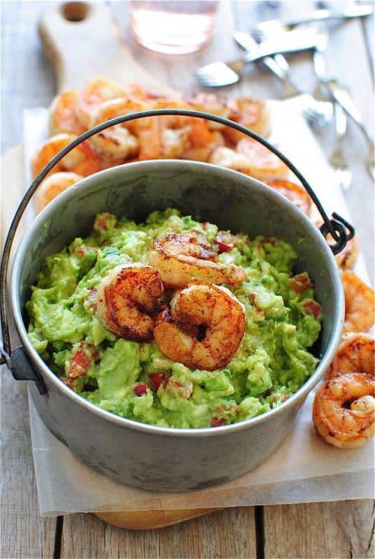 Cajun prawn guacamole