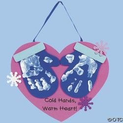 VALENTINE CRAFT Handprint Mitten Hanging Keepsake Craft Kit | Shop entertainment | Kaboodle