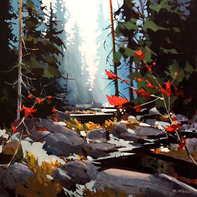 Lynn Canyon in Soft Blue, by Michael O'Toole
