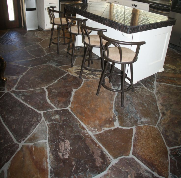 One Is That Irregular Slate Flagstone Often Used For Indoor Floors Flooring