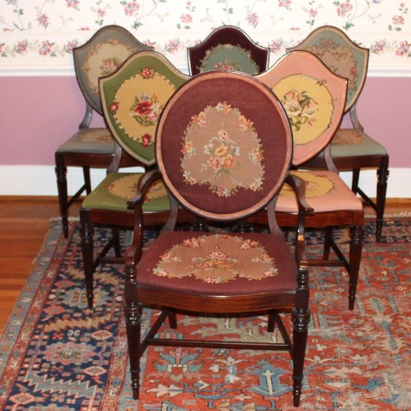 Set Of Antique Victorian Dining Chairs