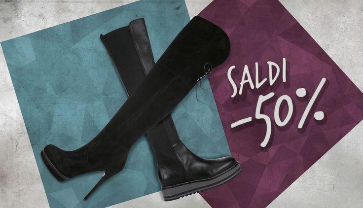 In cerca di uno stivale tutto made in Italy ed alla moda? Non perderti i nostri SALDI al 50%! Vi aspettiamo.