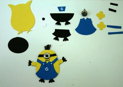 Designed by maryross: Puch Art minion instructions, instruciones para hacer un minion con punch art, owl puch from stampin up